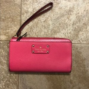 Kate Spade pink key chain wallet